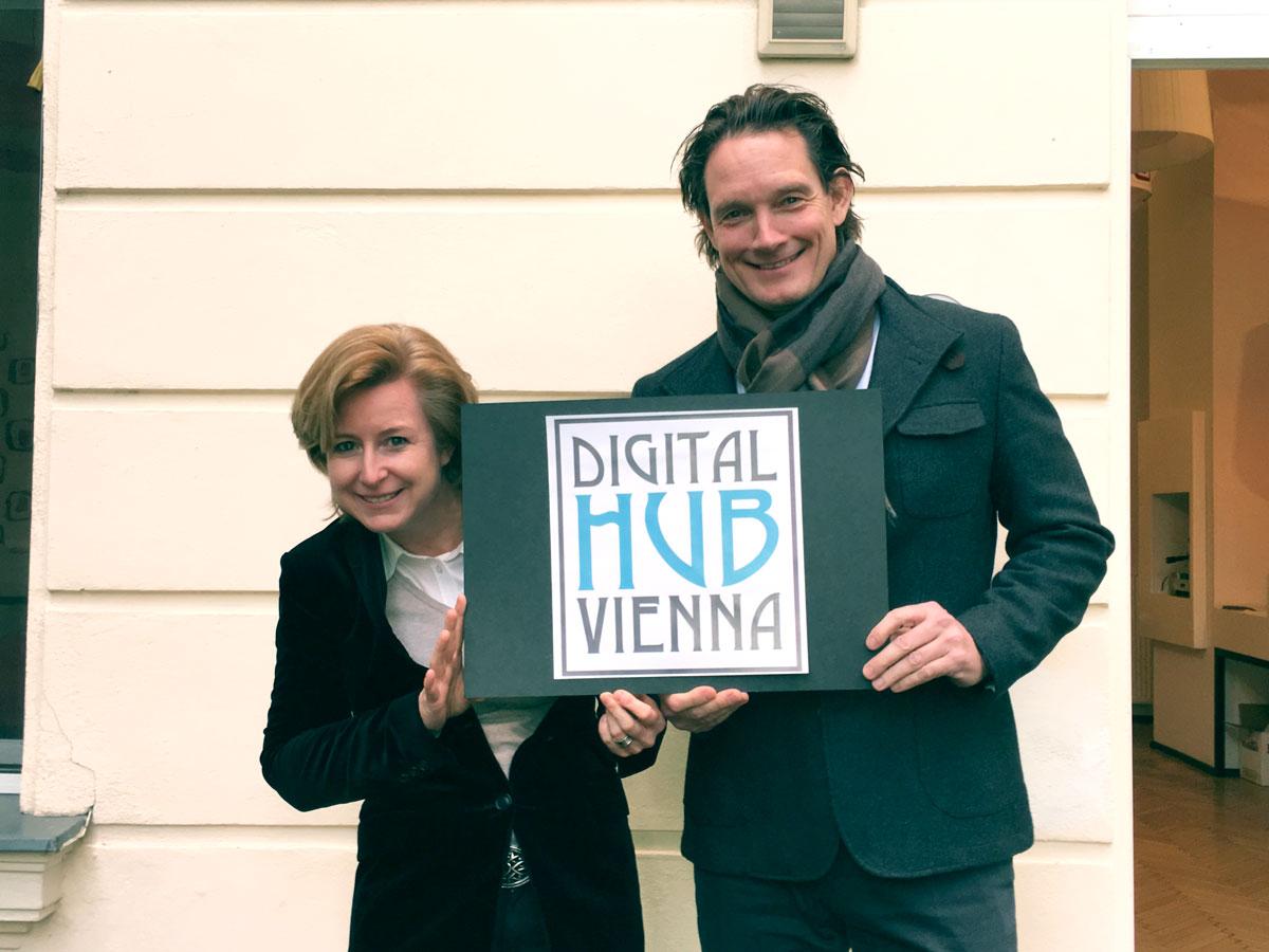Digital Hub Vienna in Gründung - Mag. Birgit Kraft-Kinz und Michael Gastinger