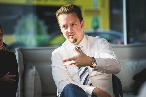 Michael Roither - UNTEN Round Table, 05.09.2017. Copyright: Digital Hub Vienna/Zytka