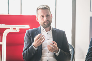 Alexander Meyer - UNTEN Round Table, 05.09.2017. Copyright: Digital Hub Vienna/Zytka